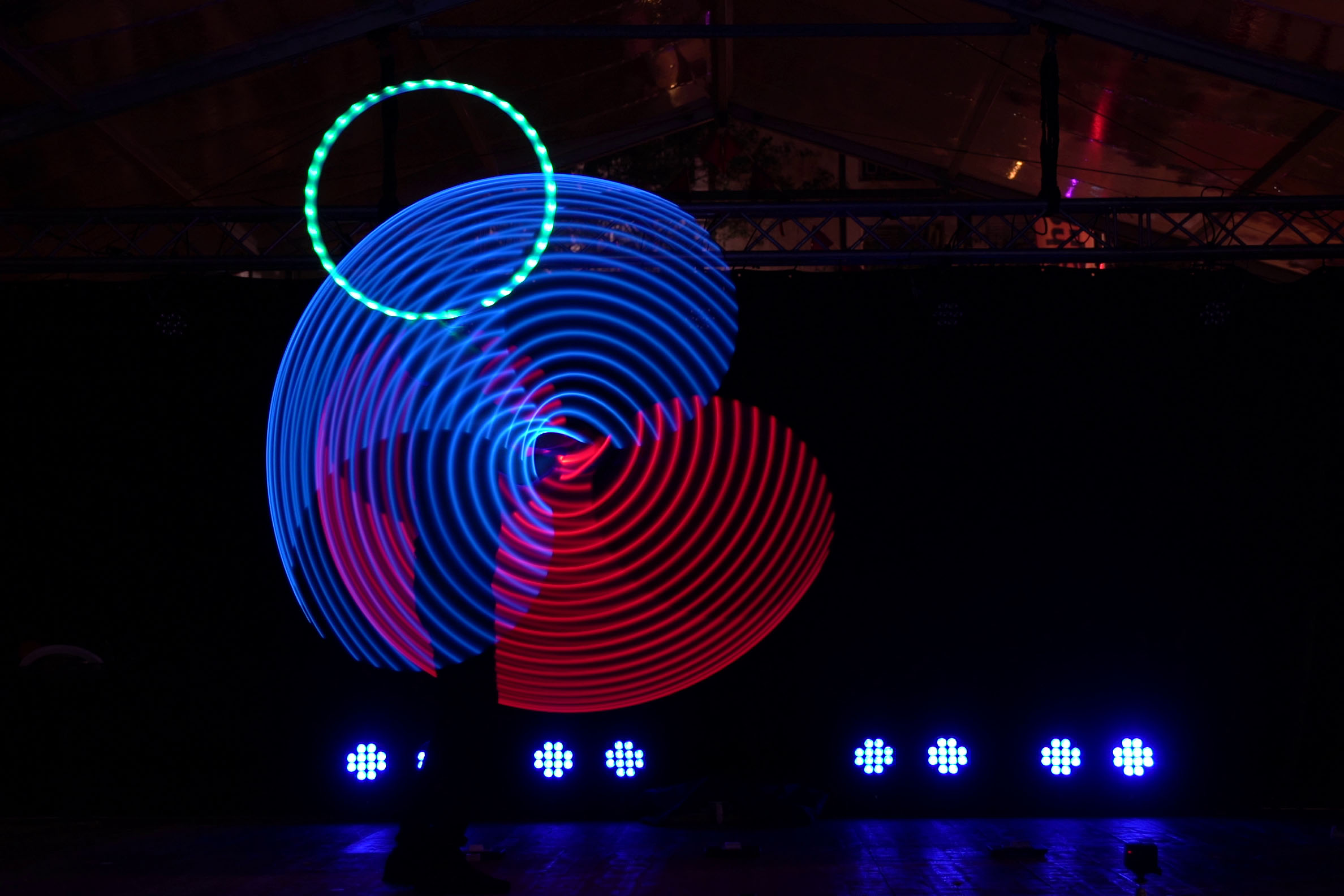 LED-Hoop-Show coloro